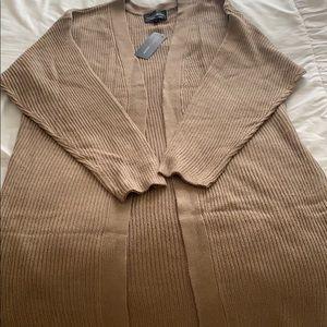 Long tan cardigan